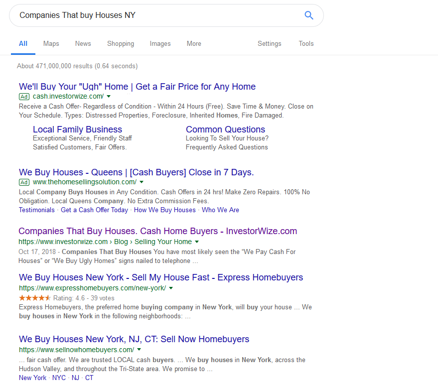 Companies that buy houses google search results